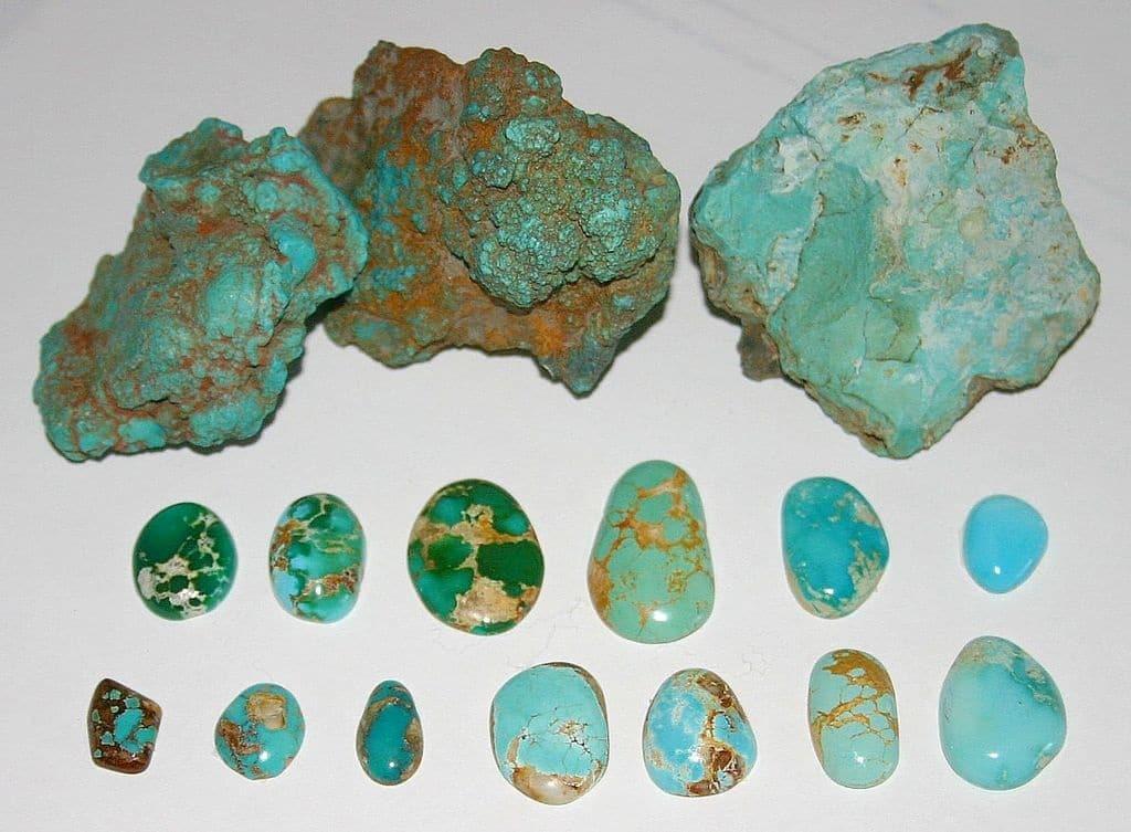December Birthstone Turquoise Cut and Uncut Gemstones