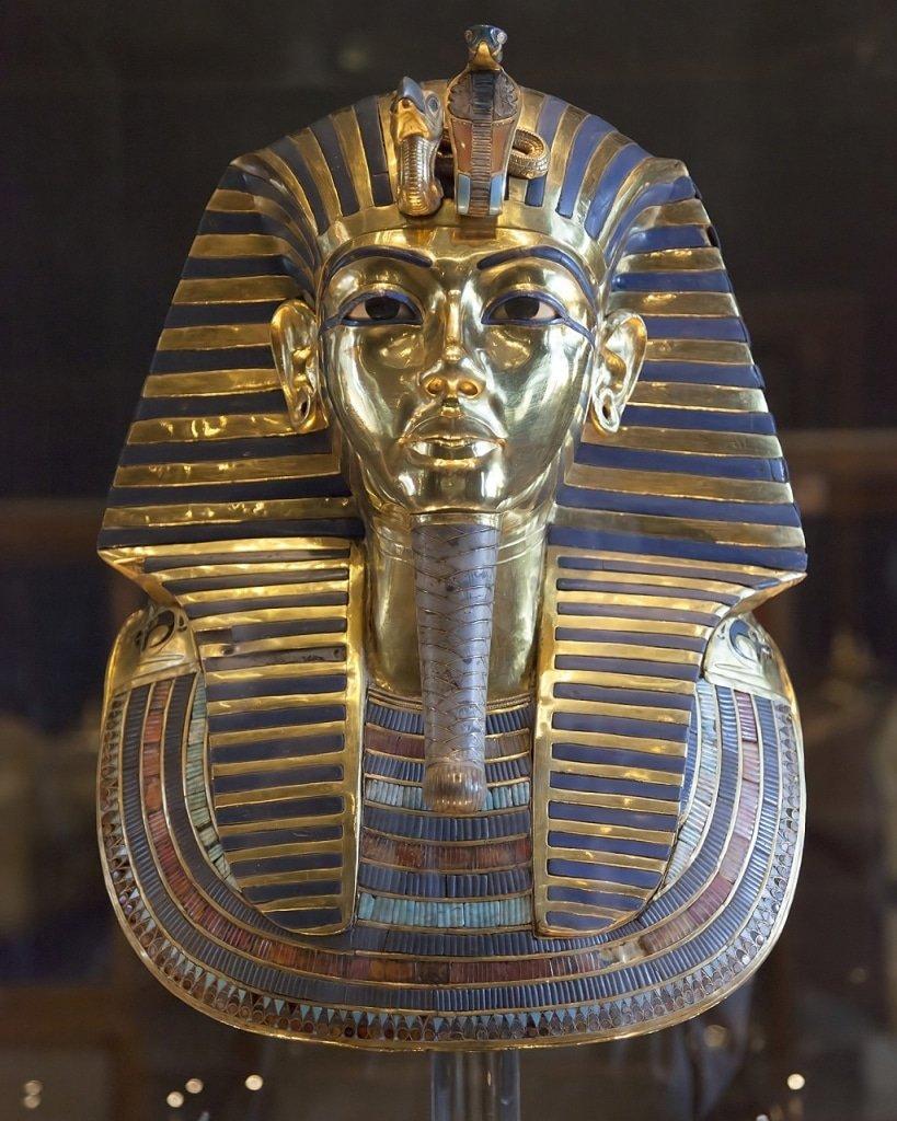 December Birthstone Turquoise set in the Death Mask of Tutankhamun