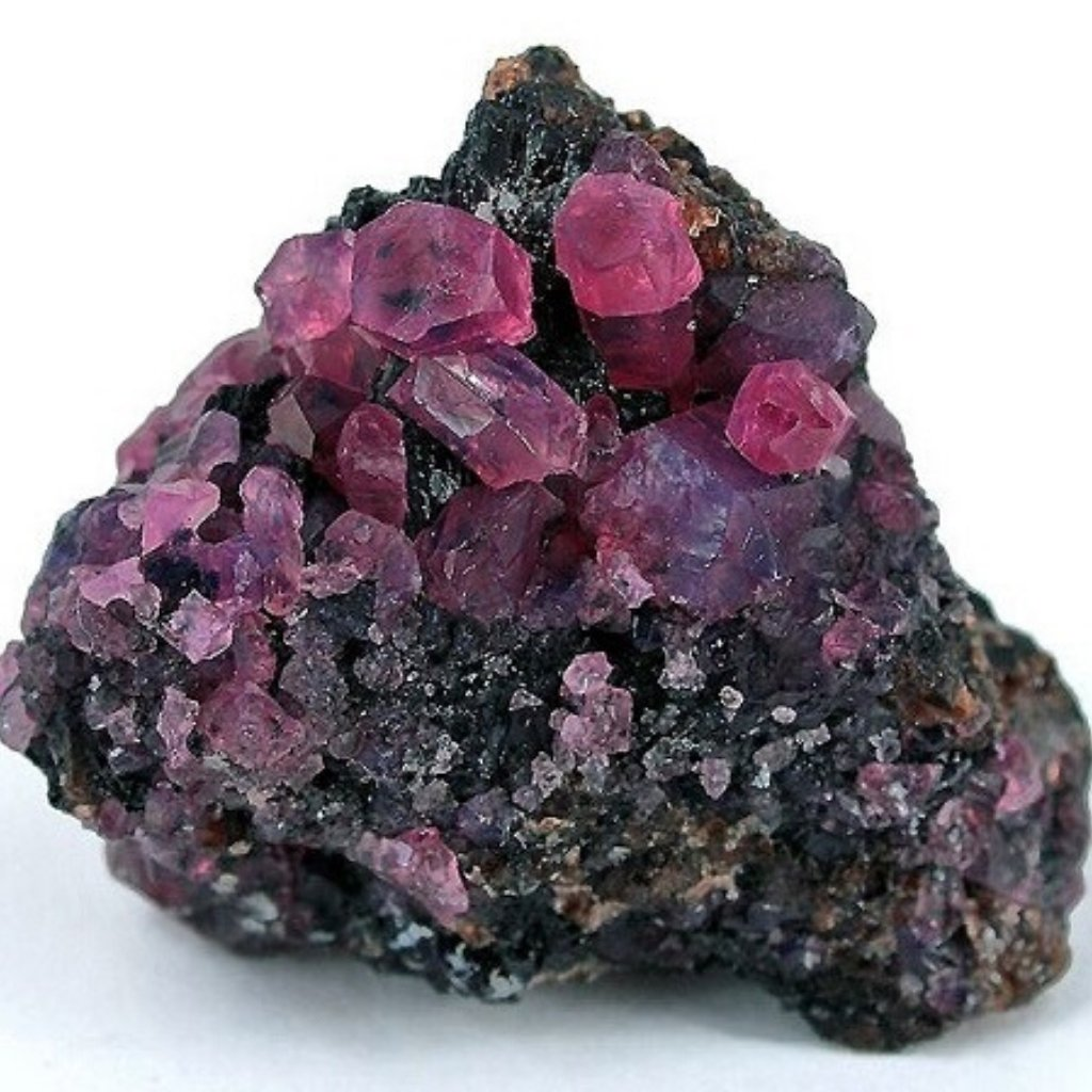 July Birthstone Ruby in its natural rock form