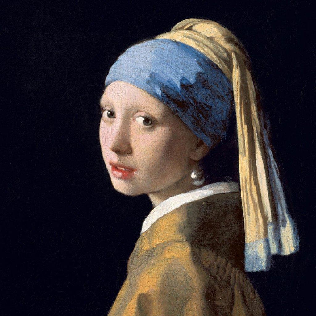 June Birthstone Pearl Earring Painting