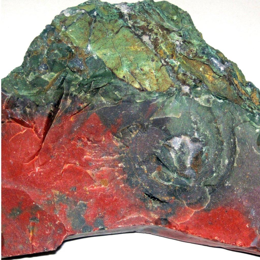 March birthstone bloodstone rock